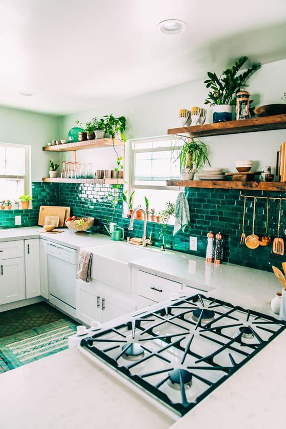 cozinha verde decoração