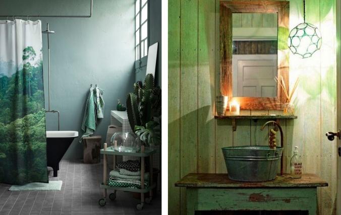 banheiro verde decoração 1
