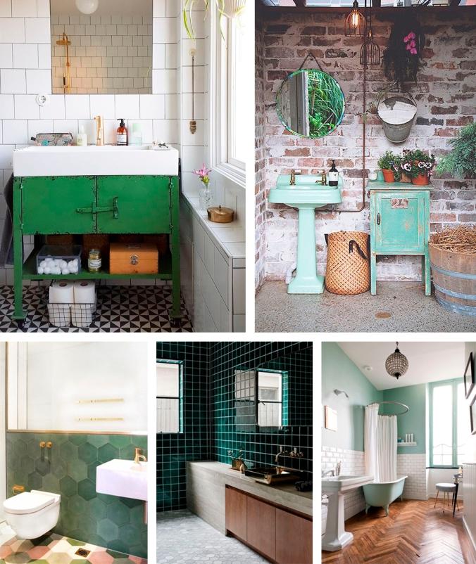 banheiro verde decoração 2