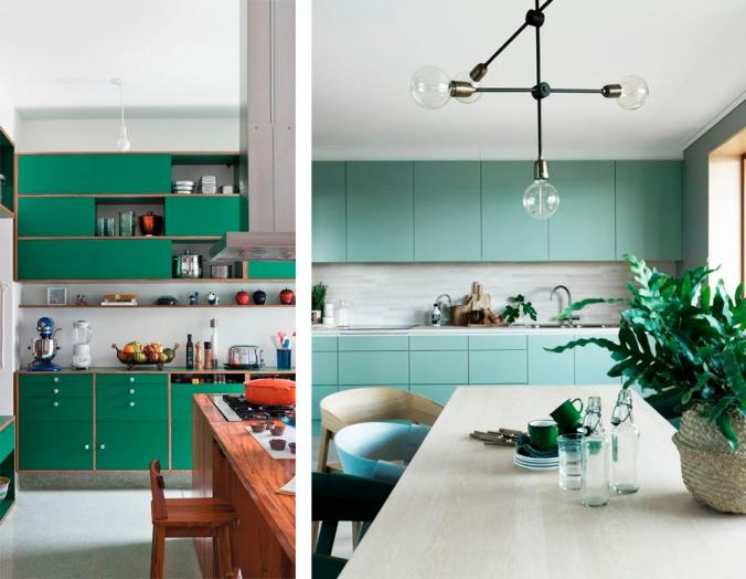 cozinha verde decoração 2