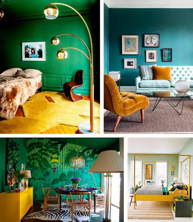 verde rosa amarelo azul decoração 2
