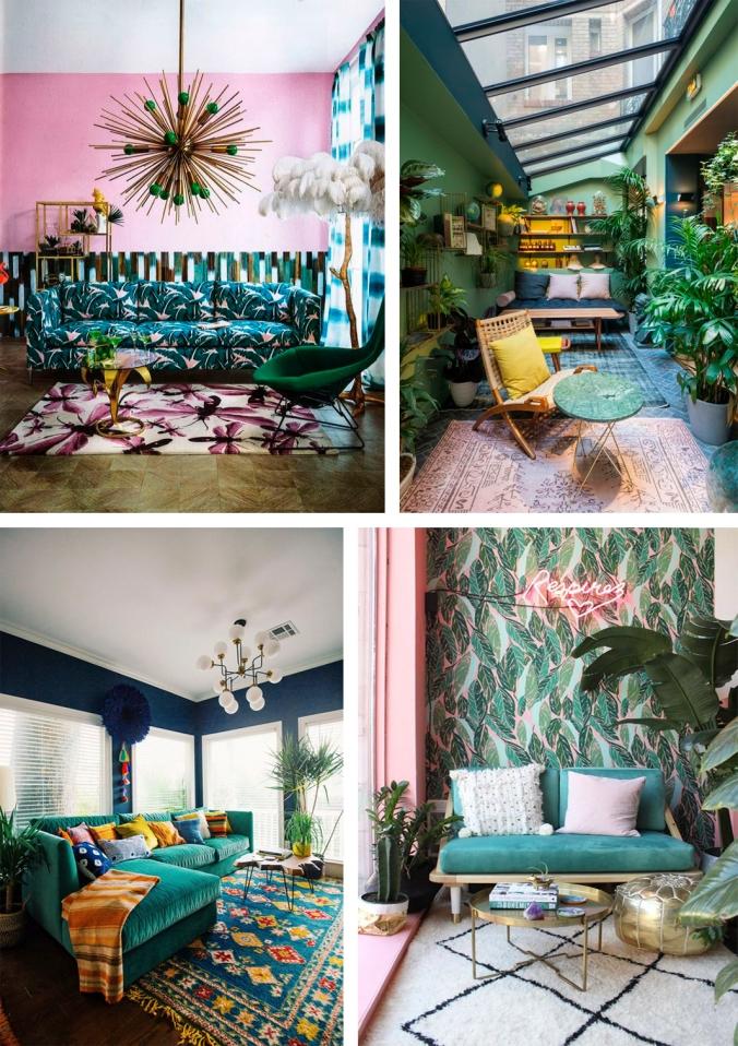 verde rosa amarelo azul decoração 3